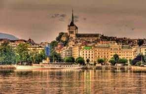 LuxeGetaways - Luxury Travel - Luxury Travel Magazine - Geneva City Guide - Geneva Switzerland - Swiss Tourism - Rolex - Cityscape at sunset