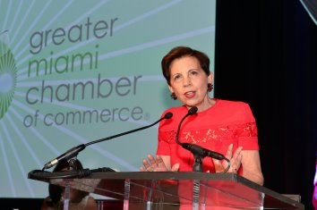 Adrienne Arsht at Miami Chamber of Commerce photo credit Gort Productions