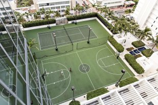LuxeGetaways - Luxury Travel - Luxury Travel Magazine - W Hotel South Beach - e-wow penthouse - luxury penthouse suite - south beach florida - sport court