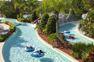 LuxeGetaways - 25 Poolside Experiences - Luxury Hotel Pools - Hilton Orlando - Lazy River