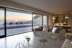 LuxeGetaways - Luxury Travel - Luxury Travel Magazine - Luxe Getaways - Luxury Lifestyle - Luxury Villa Rentals - Villas with Forever Views - Luxe Villas - Luxury Rentals - Greece - Aetos - Mylopotas - Island of Ios - Cyclades - Living Room