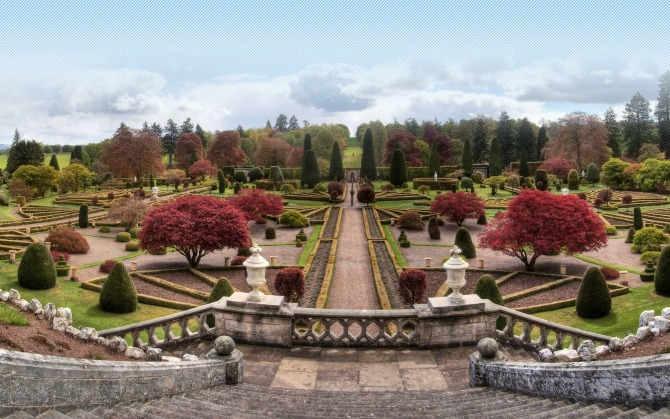 Drummond Castle (Perthshire, Scotland) ??? Example of Elegant Formality