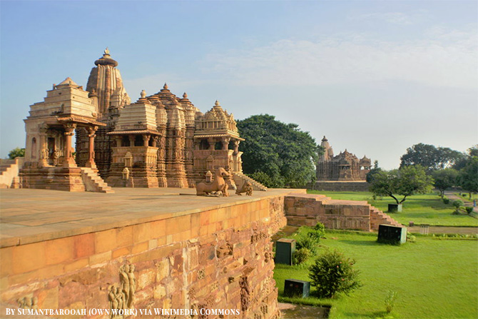 The Temples of Khajuraho in India