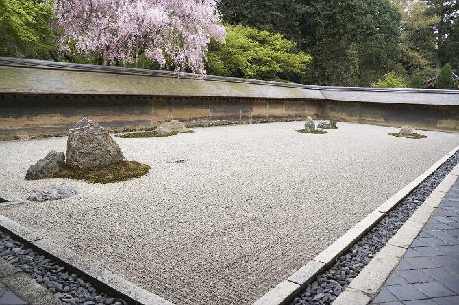 Ryoan-ji Zen Garden (Kyoto, Japan) ??? Minimalistic Attraction Evokes Interest