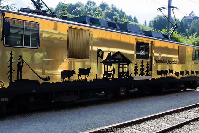 Taking the train in Heavenly Switzerland