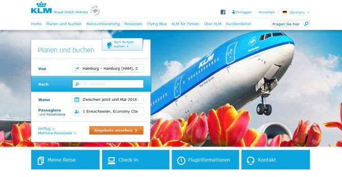 KLM Top Ten Airlines for Business Travel