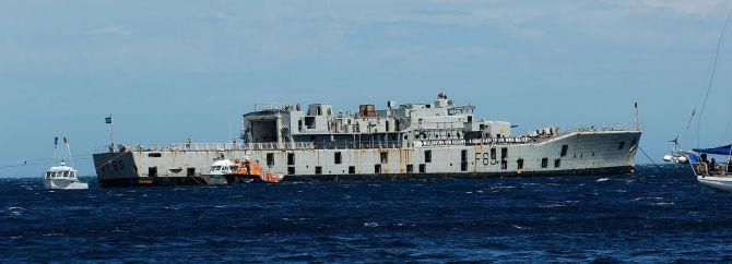 Scuba Diving in New Zealand HMNZS Wellington