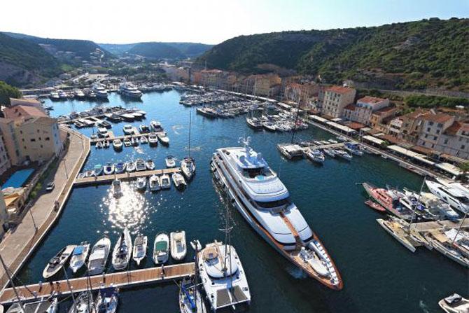 Top Ten Superyacht Marinas in the Med Port De Bonifacio Corsica