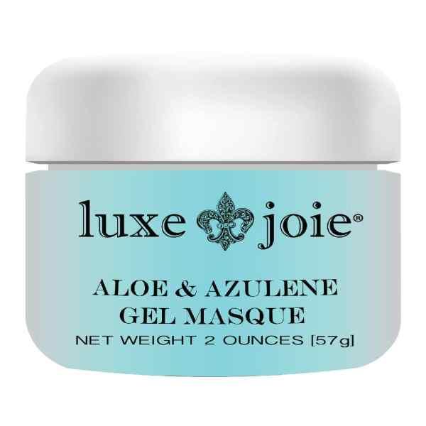 aloe & azulene gel masque on white background