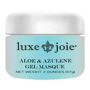 aloe & azulene gel masque on white background