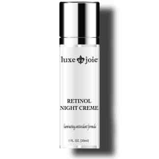retinol night creme on white background