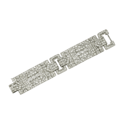Antique Pieces - Platinum and Diamond Bracelet - courtesy of cartier.us