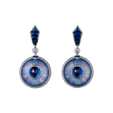 Cartier Royal Collection - Ceylon Sapphire and Diamond Earrings - courtesy of cartier.us