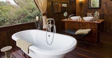 Chiawa Camp Safari Tent Bathroom - Courtesy of chiawa.com