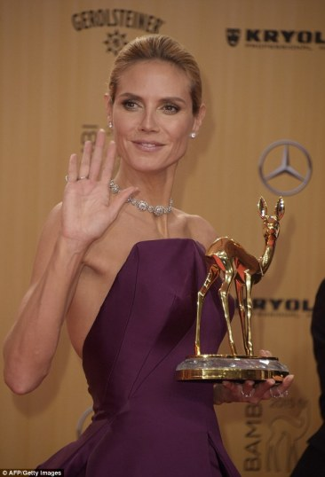 Heidi Klum in Zac Posen - AFP - Getty Images