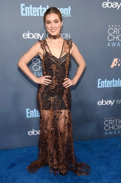 SANTA MONICA, CA - DECEMBER 11: Actress Haley Lu Richardson attends The 22nd Annual Critics' Choice Awards at Barker Hangar on December 11, 2016 in Santa Monica, California. (Photo by Kevin Mazur/WireImage)