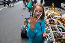 Street fair shopping