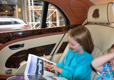 Enjoying the St. Regis New York's Bentley.