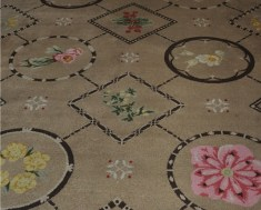 Custom carpets of resort's flowers.