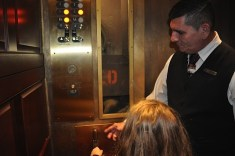 Letting kids operate the elevator