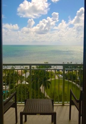 The view from our room of Key Biscayne