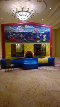 You have to love a bouncy house in a ballroom