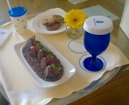 Room service delivers a yummy treat