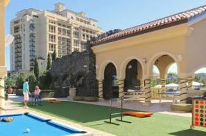 The main family pool cabanas at Four Seasons Orlando