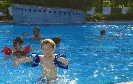 Incredible pool at Le Bonne Entente