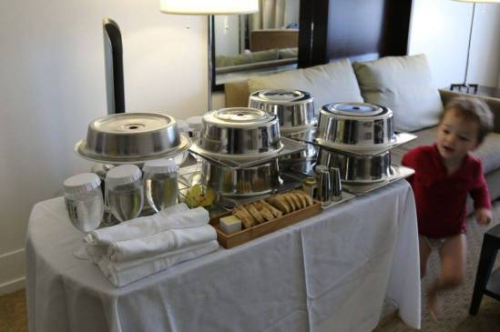 My largest room service order ever, and they handled it perfectly.