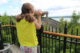 On the way to the top of Montmorency Falls