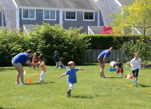 Obstacle courses at the Winnetu kids' club