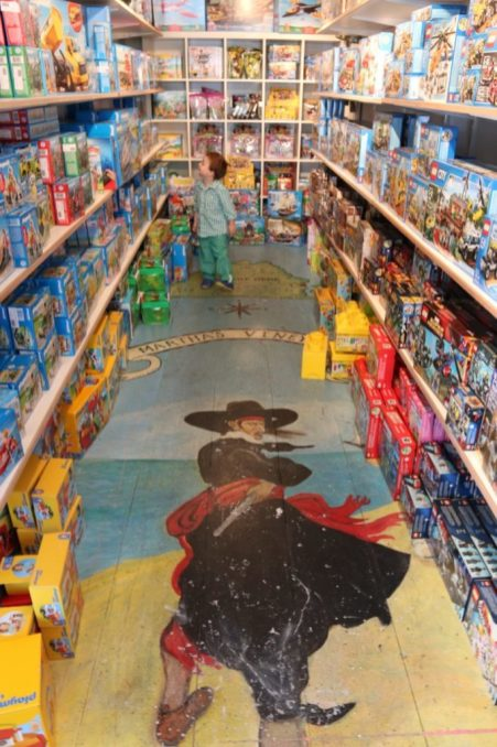 The toy store section of NRO Kids