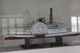 Scale model of an early passenger steamer to the Vineyard is a showcased at The Dunes at the Winnetu