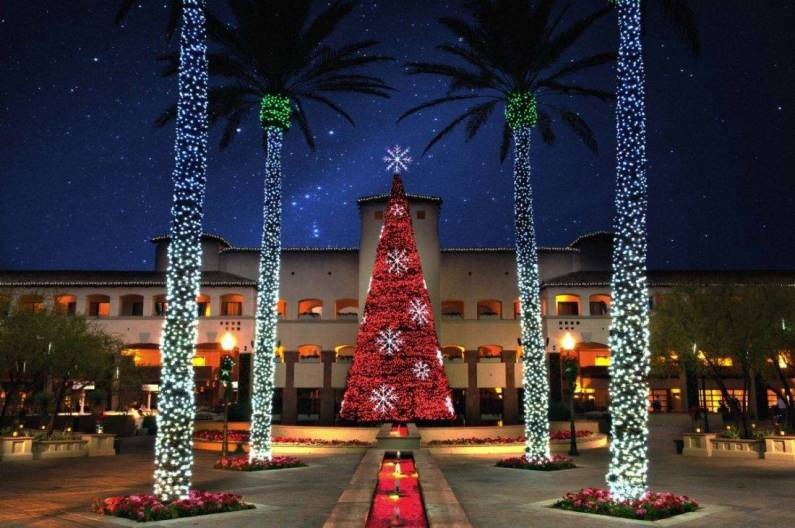 The four-story musical tree at the Fairmont Scottsdale Princess