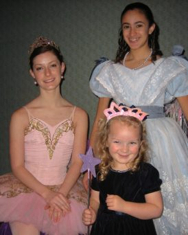 The Sugar Plum Fairy and Clara at the Ritz-Carlton Boston Common