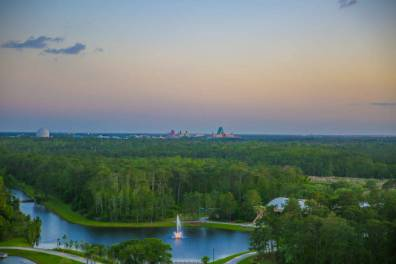 Four Seasons Orlando views of Epcot and Hollywood Studios