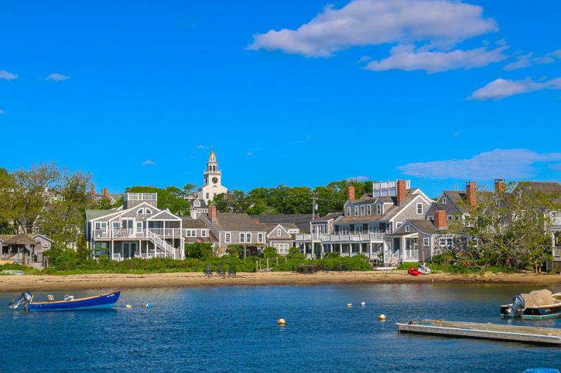 The Harborview Nantucket seen from the piers.