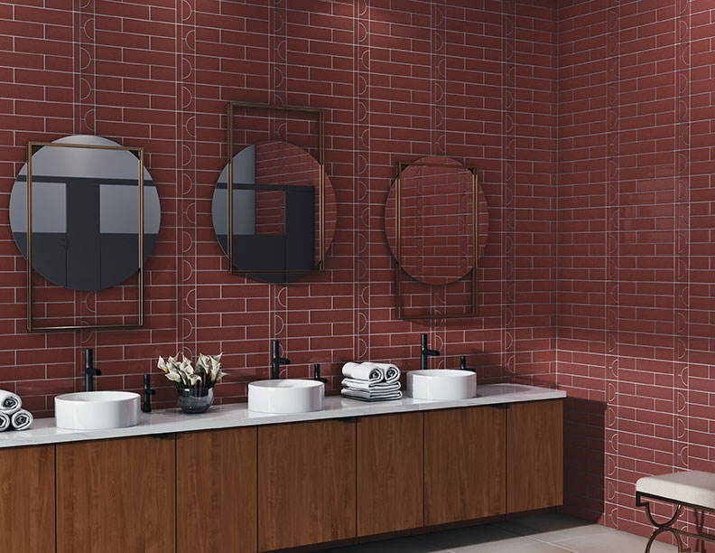 cursive tile collection