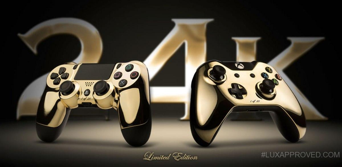ColorWare 24k PS4 DualShock 4 Amp Xbox One Controllers