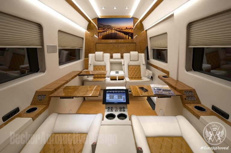 Becker Automotive Design Refits Mercedes Benz Sprinter Van With Interiors Customized To Private