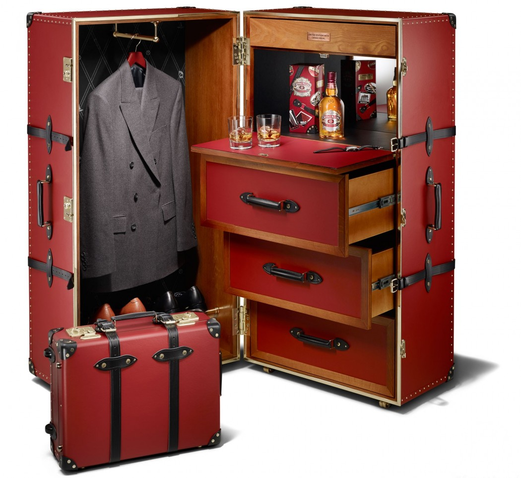 "Chivas 12 ""Made for Gentlemen"" by Globe-Trotter Limited Edition Luggage Set"