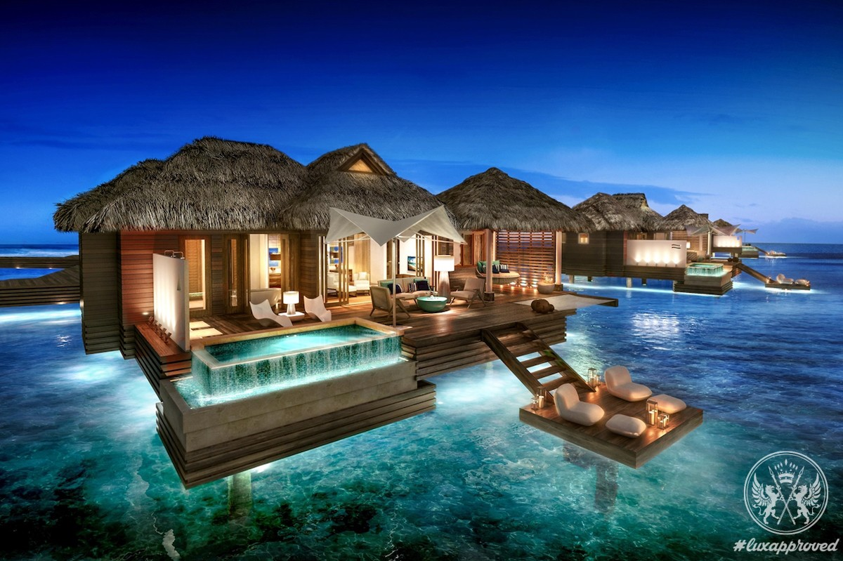 0307bb3735c0e3 Over-the-Water Suites at Sandals Royal Caribbean Resort in Jamaica ...
