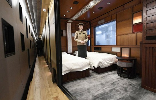 Luxury Train Suite Shiki-Shima Departs on Its Maiden Journey