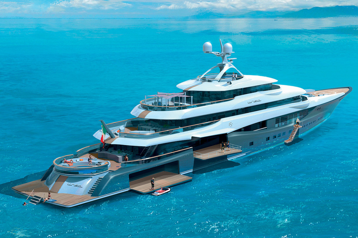 Superyachten concept  and Claydon Reeves Introduce Linea, the 295-Foot Superyacht Concept