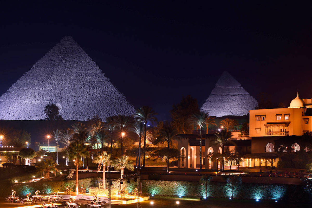 Wake Up to the View of the Great Pyramids of Giza at Marriott Mena House, Cairo