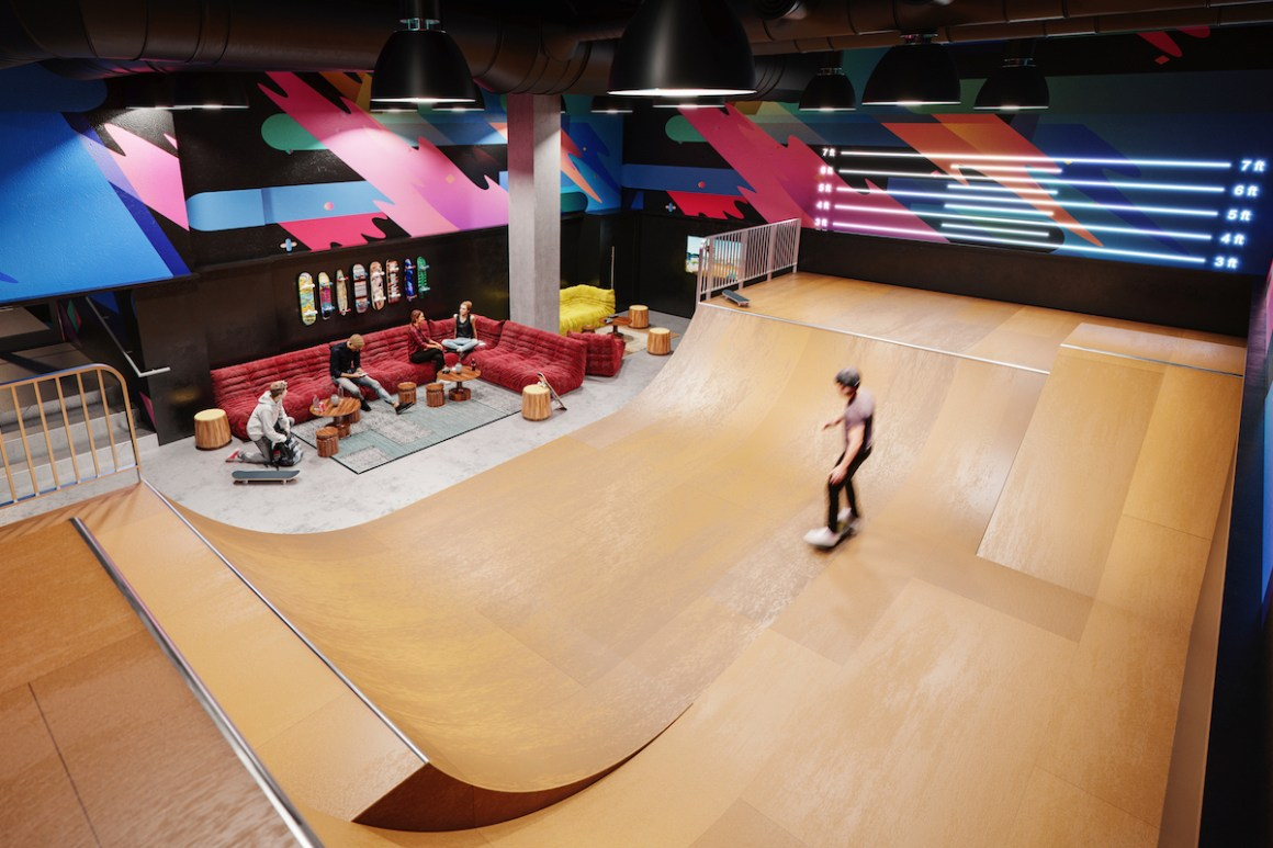 NYC's First Indoor Skate Park in a Residential Development Unveiled