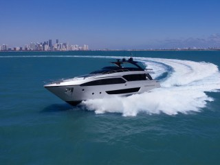 Riva 90' Argo & Pershing 8X at the Palm Beach International Boat Show