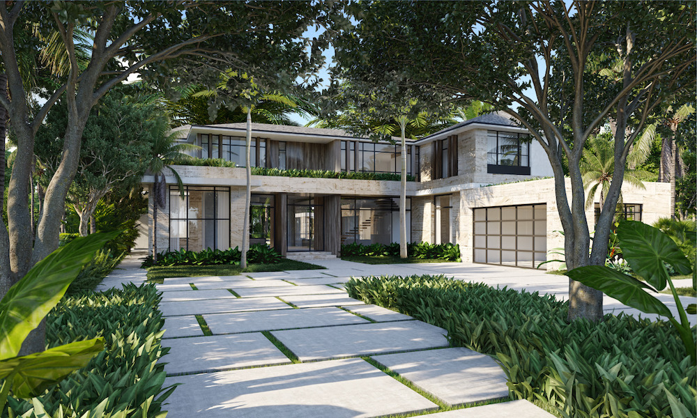 Dubbed the Limestone Estate after its stone exterior, the mansion is designed by Miami-based architect Max Strang.