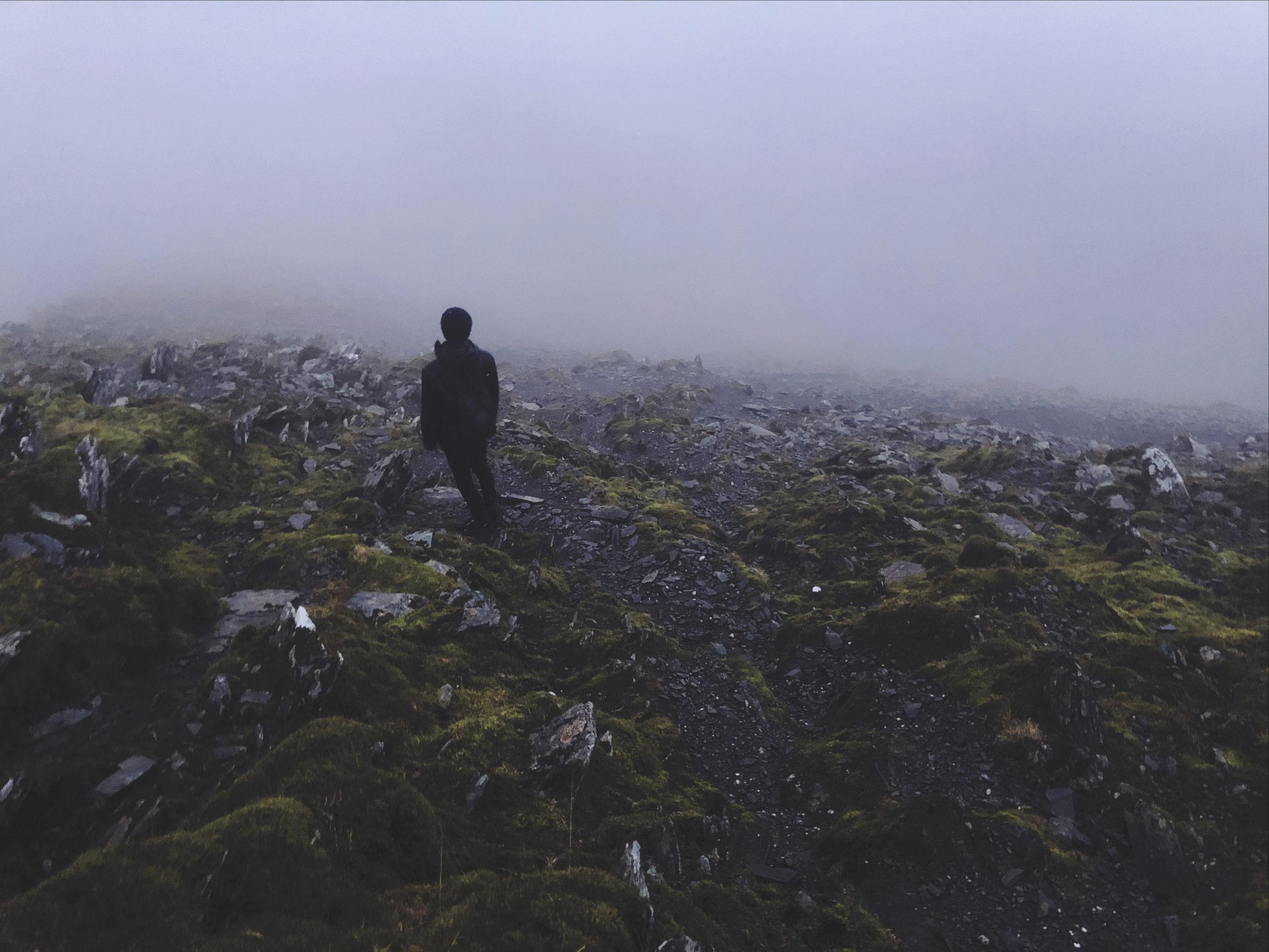 Pays de Galles rando brume tempête